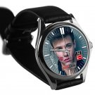 cool brent rivera leather silver Wristwatches