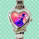 cute michael jackson dancing moon walk signature heart charm watches stainless steel
