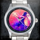 cool michael jackson dancing moon walk signature Stainless Steel Wristwatches