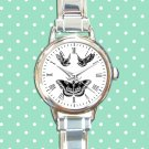 cute Harry Styles Tattoo butterfly round charm watches stainless steel