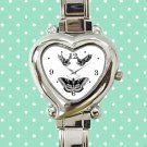 cute Harry Styles Tattoo butterfly heart charm watches stainless steel
