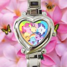 cute little pony friendship is magic heart charm watches stainless steel