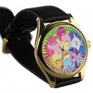 cool little pony friendship is magic leather gold Wristwatches