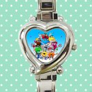 cute M&M's Wrapper candy heart charm watches stainless steel
