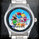 cool M&M's Wrapper candy Stainless Steel Wristwatches