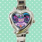 cute ursula little mermaid heart charm watches stainless steel