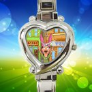 cute Bobs Burgers Tina Belcher heart charm watches stainless steel