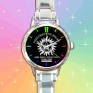 cute supernatural winchester bros logo round charm watches stainless steel