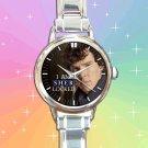 cute benedict cumberbatch sherlock 221B holmes round charm watches stainless steel