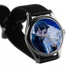 cool once upon a time captain hook leather silver Wristwatches