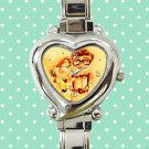 cute up balloon carl and ellie quotes heart charm watches stainless steel