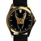 cool Loki The Avengers Thor leather gold Wristwatches