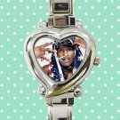 cute ASAP Rocky love live A$AP rap heart charm watches stainless steel