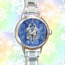 cute star wars r2d2 blueprint round charm watches stainless steel