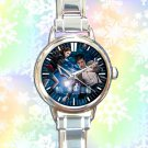 cute dr who police call box tardis round charm watches stainless steel