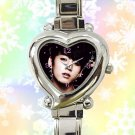 cute jungkook bangtan boys kpop heart charm watches stainless steel