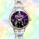 cute Falling in reverse logo ronnie radke round charm watches stainless steel
