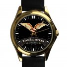 cool foo fighters dave grohl nirvana rock leather gold Wristwatches