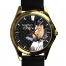 cool maria brink in this moment band leather gold Wristwatches