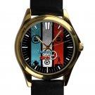cool Twenty One Pilots logo vessel tyler joseph leather gold Wristwatches