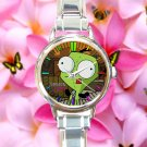 cute Gir Invader Zim Doom tacos round charm watches stainless steel