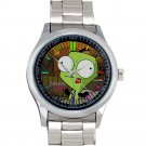 cool Gir Invader Zim Doom tacos Stainless Steel Wristwatches