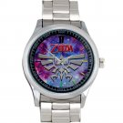 cool The legend of zelda triforce logo silver pattern Stainless Steel Wristwatches