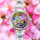 cute adventure time finn & jake characters round charm watches stainless steel