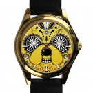 cool adventure time finn & jake leather gold Wristwatches