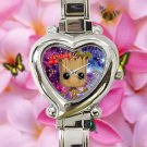 cute i am groot baby face cute galaxy nebula heart charm watches stainless steel