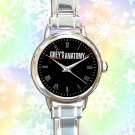 cute grey's anatomy movies logo round charm watches stainless steel