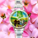 cute The Wizard of Oz dorothy return Scarecrow round charm watches stainless steel