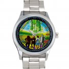 cool The Wizard of Oz dorothy return Scarecrow Stainless Steel Wristwatches