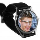 cool JENSEN ACKLES smile supernatural silver pattern leather silver Wristwatches