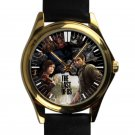 cool the last of us game ellie joel leather gold Wristwatches