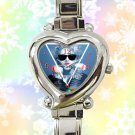 cute madonna heart charm watches stainless steel