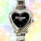 cute grey's anatomy movies logo heart charm watches stainless steel