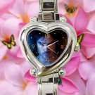 cute ian somerhalder vampire diaries damon salvatore heart charm watches stainless steel