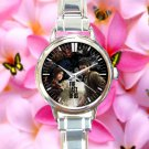 cute the last of us game ellie joel round charm watches stainless steel