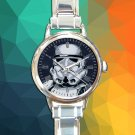 cute Star Wars Storm Trooper Darth Vader round charm watches stainless steel