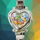 cute all disney characters christmas heart charm watches stainless steel