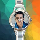 cute dylan o'brian teen wolf round charm watches stainless steel