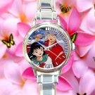 cute Chibi Inuyasha Kagome Anime cartoon round charm watches stainless steel