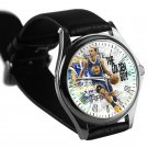 cool stephen curry golden state warriors leather silver Wristwatches