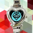 cute all time low future hearts logo heart charm watches stainless steel
