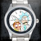 cool Rick and Morty portal gun Stainless Steel Wristwatches