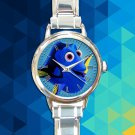 cute finding nemo dory round charm watches stainless steel