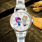 cute Dan And Phil Galaxy round charm watches stainless steel