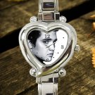 cute Elvis Presley Legend hearts logo heart charm watches stainless steel