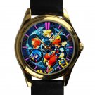 cool Kingdom Hearts Heartless leather gold Wristwatches